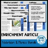 Nutrition and Fitness Articles: Growing Bundle (Google Sli
