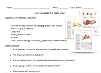 Nutrition and Food Chemistry Science Bundle
