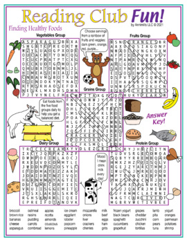 Nutrition and Food Groups Word Search Puzzle