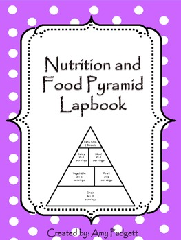 Nutrition and Food Pyramid Lapbook