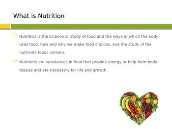 Nutrition and Nutrients Powerpoint