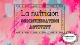 Nutrition communication questions - Spanish - Avancemos 6.2