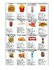 Nutrition facts- Food/drink choices (cut and paste and graphic organizer)