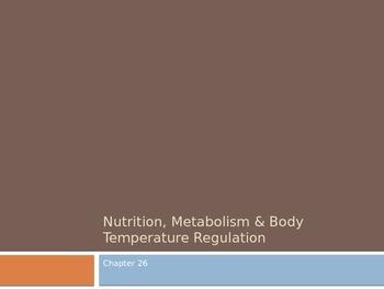 Nutrition, metabolism, body temperature regulation