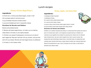 Nutritional Cookbook With Recipes For Parents& Children