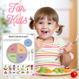 Nutritional Health Worksheets - What's On My Plate? (Early Eating Habits)