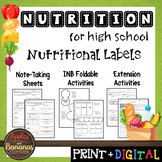 Nutritional Labels - Interactive Note-Taking Materials