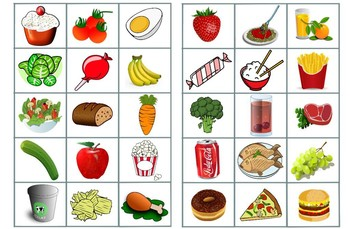 """Nutritious Food vs.""""Junk Food""""."""