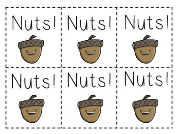 Nuts!! A Squirrel Sight Word GameDolch 1st Grade List
