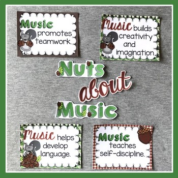 Nuts About Music: Benefits of Music Bulletin Board Set