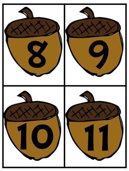 Nuts About Numbers Math Activities
