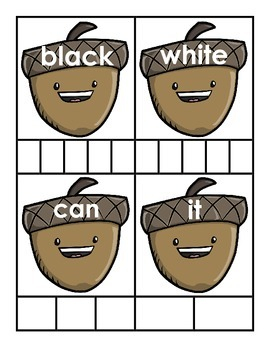 Nuts About Sight Words