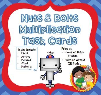 Multiplication Task Cards: CCSS 3.OA.A.1, 3.OA.C.7