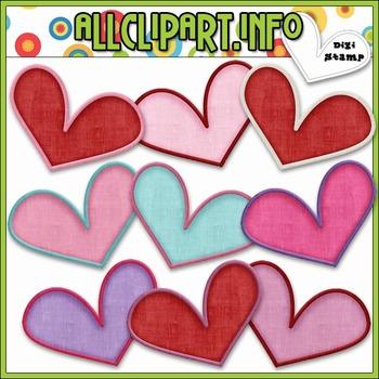 Nuts & Bolts Valentine Robots Hearts Clip Art