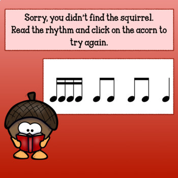 Interactive Music Game (Rhyhtm)Nuts about Fall! for Google Slides/PDF Sixteenths