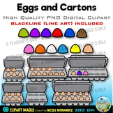 Eggs and Cartons Clip Art for Personal and Commercial Use