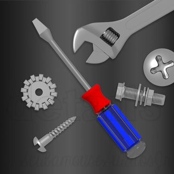 Nuts and Bolts Clipart, Tools Clipart, Construction Clipart