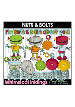 Nuts and Bolts Robots Clipart Collection