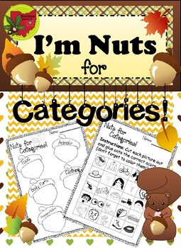 Nuts for Categories! - Fall Speech Therapy Activity