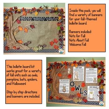 Nuts for Fall Bulletin Board Kit Freebie