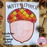 Nutty Acorn Speech Craft (articulation language) cut and paste