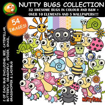 Nutty Bugs Collection Clip Art