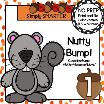 Nutty Bump!:  NO PREP Squirrel Themed Counting Game