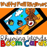 Fall Rhymes- Phonemic Awareness Boom Cards Distance Learning