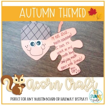 Nutty For Fall...Acorn Craft-ivity
