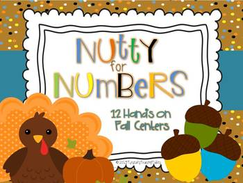 Nutty For Numbers  12 Fall Math Centers