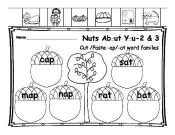 Nutty Fun Phonics                              Short Vowel A Word Activities
