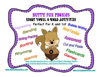 Nutty Fun Phonics Short Vowel O Word Activities