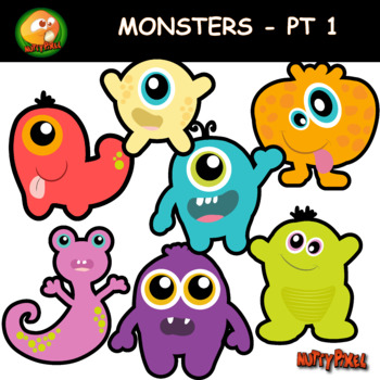 Nutty Monsters Clip Art Part 1