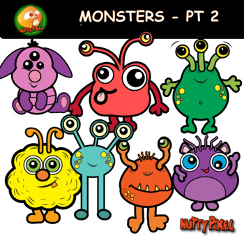 Nutty Monsters Clip Art Part 2