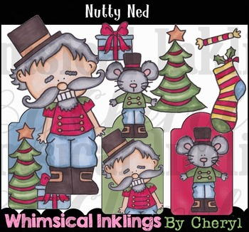 Nutty Ned -Christmas Clipart Collection