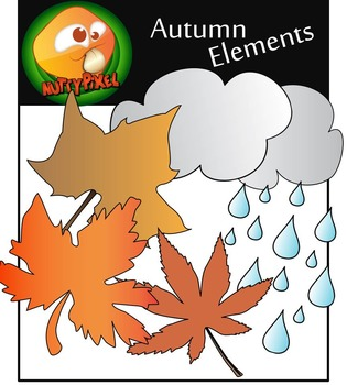 Nutty Season Elements_ Autumn/Fall Clip Art