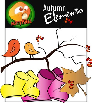 Nutty Season Elements_Autumn/Fall Pt 2 Clip Art