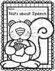 Nutty Squirrel Fall Speech Therapy Craft {articulation craftivity}