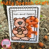 Nutty Squirrel Fall Speech Therapy Craft {articulation and language targets}