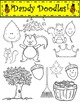 Nutty Squirrels Clip Art by Dandy Doodles