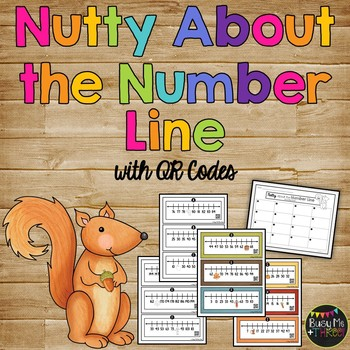 Nutty about the Number Line, Missing Numbers Up to 200 {QR Codes}