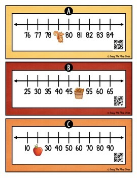 Number Line Missing Numbers Up to 200 {QR Codes}