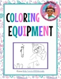 Nyla Nova's Science Equipment Coloring Page