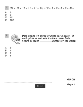 NYS Math Practice Exam - 2nd Copy