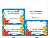 O.C.E.A.N Folder Label