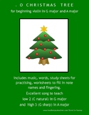 O CHRISTMAS TREE  - for beginning violin in Gmajor & A major