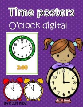 O'CLOCK DIGITAL POSTERS