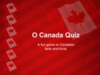 O Canada Facts and Trivia Quiz PowerPoint