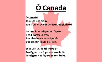 O Canada - French Language Poster