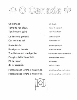 O Canada in French